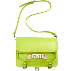 Proenza Schouler PS11 Classic Python in chartreuse neon