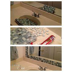 Una manera muy #facilysencillo de personalizar esos espejos de los baños…