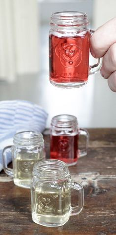 Adorable Mason Jar Shot Glasses - great holiday gift idea (aff link)