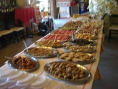 Esposizione del buffet serale del nostro apericena.
