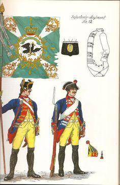 Prussia; Infantry Regiment Nr.12, c.1750