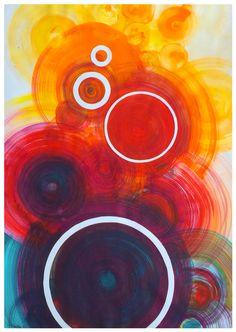"""""""Circles""""-aquarella."""