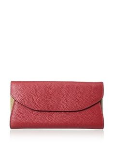 59% OFF Zenith Women's Two-Tone Wallet, Red/Peanut