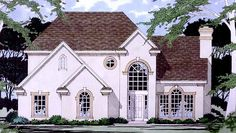 Eplans European House Plan - Three Bedroom European - 2147 Square Feet and 3 Bedrooms from Eplans - House Plan Code HWEPL74059