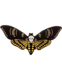 Death Head Moth Iron-On Patch at - $6.50 at PLASTICLAND