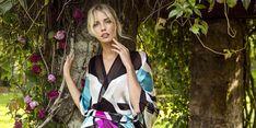 Kristiina Sulmio`s textile design for Finnish accessories brand Marja Kurki. Textile Design, Scarves, Kimono Top, Textiles, Accessories, Collection, Color, Tops, Women