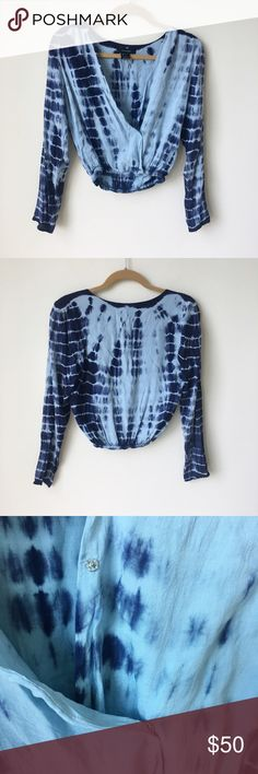 Tie Dye Boho Blue Bohemian Long Sleeve Top Not from Blue Life- from boutique. Brand olivaceous   Tags Free People, Revolve, Jens Pirate Booty, Gypsy 05 Blue Life Tops Tees - Long Sleeve