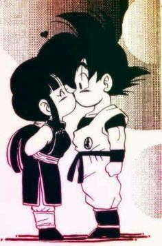 Goku and Chi-Chi I swear the only reason I save some pins is to correct the name misspelling! Goku was gaku. Goku E Chichi, Milk Y Goku, Home Bild, Dragon Ball Gt, Dragon Bollz, Animes Wallpapers, Anime Love, Sketches, Animation