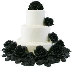 Sparkly Wedding Cakes, Black Wedding Cakes, Wedding Cakes With Flowers, Beautiful Wedding Cakes, Rose Wedding, Cake Flowers, Dream Wedding, Wedding Shit, Wedding Ideas