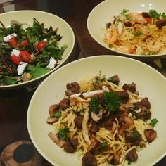 When I See Food I get Creative  SoeReiMas new Recipe inSpired by Minies  #SoeReiMas #new #food #dish #spaghetti #ScampiArmini #BeauTenderBeef #SaladàZoë for #recipe just #ask #love to #cook #create #innovate #taste #couragous #always #soul in #kitchen #soulfood #delicate #massagefood #eat #well #garlic it is #fresh #herbs #spicy #lovebynature