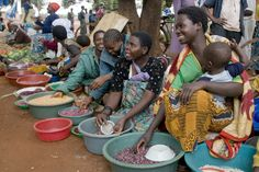 Women selling a variety of beans at the Metundu Market in Lilongwe, Malawi. Camera Tips, Camera Hacks, Food Security, Sustainable Food, Free Activities, Beans, Nutrition, Women, Beans Recipes