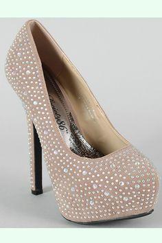 Flawless- Tan  Rhinestone Heel, For all things Bling, Bling   $54.50   www.ClassyChickClothingOnline.com