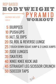 Burpees for Breakfast | REP BASED BODYWEIGHT PYRAMID WORKOUT | http://www.burpeesforbreakfast.com