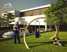 Curl Playground Swing