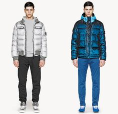 Stone Island 2013-2014 Fall Winter Mens Lookbook Collection - Outerwear Coats Hooded Down Field Jackets Parkas Reflective Camouflage Militar...