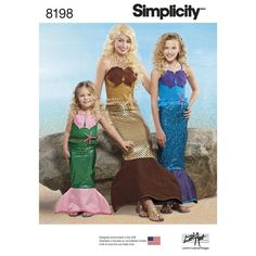 Simplicity Sewing Pattern S8198 Child's, Girls' & Misses' Mermaid Costumes … WeaverDee.com