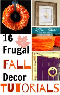 16 Frugal Fall Decor Ideas to make this season. Fall decorating doesn't have to be expensive! You can make these simple DIY fall decorations on a budget!