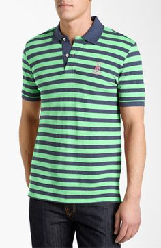 Psycho Bunny Stripe Piqué Polo available at #Nordstrom