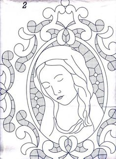 Gallery.ru / Фото #105 - disegni ricamo - antonellag Cutwork Embroidery, Embroidery Transfers, Hand Embroidery Patterns, Quilt Patterns, Embroidery Designs, Virgin Mary Art, Paper Quilling Patterns, Bible Coloring Pages, Parchment Craft