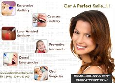 At Smilekraft Dentistry, we offer you the best dental treatments in an environment that is both hygienic and progressive with the latest in technology that dentistry has to offer. We are quite reasonably and affordably priced, especially considering we offer services that are touted as world class in developed countries.