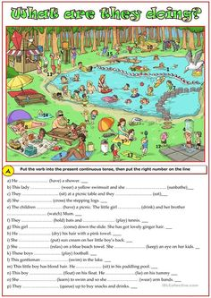 Present continuous tense practice worksheet - Free ESL printable worksheets made by teachers Learning English For Kids, Teaching English Grammar, English Worksheets For Kids, English Writing Skills, English Reading, English Activities, English Book, English Lessons, English Vocabulary