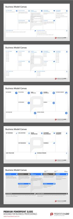 Business Model Canvas PowerPoint Template to strategically plan and present your Business Model. #presentationload www.presentationl...