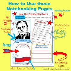 Presidential Facts Notebooking Pagees | Great Peace Academy