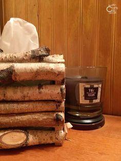 Tissue Box Covers You Can Make - Rustic Crafts & Chic Decor Diy Rustic Decor, Rustic Bathroom Decor, Rustic Crafts, Rustic Bathrooms, Tissue Box Covers, Tissue Boxes, Small Bathroom Organization, Bathroom Storage, Mason Jar Soap Dispenser