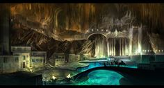 Check out this awesome collection of Underground City wallpapers, with 52 Underground City wallpaper pictures for your desktop, phone or tablet. Fantasy City, Fantasy Castle, Fantasy Places, Sci Fi Fantasy, Fantasy World, Fantasy Concept Art, Fantasy Artwork, Dwarven City, Underground Cities