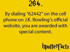 Harry potter facts. Someday I will actually try this.