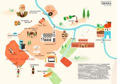series of colorful maps that Owen Gatley illustrated for in-flight magazine, Ling.