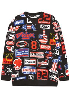 Love Moschino multicoloured�jersey sweatshirt Badge print, ribbed trims - that should be mine!