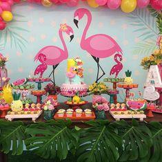 Flamingo Party, Flamingo Birthday, 13th Birthday Parties, 24th Birthday, Luau Birthday, Tropical Bridal Showers, Tropical Party, Peach Party, Girl Birthday Decorations