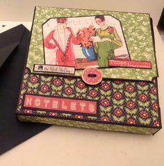 Sept 2014 Graphic 45 Times Nouveau Notelet Box Clare Charvill Jones Crafts Design Team project