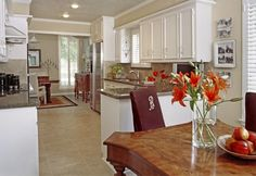 Lovely kitchen white trim & Toasted Almond Olympic Painted walls