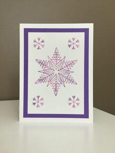 Design: Snowflakes Designer: stitchingcards.com