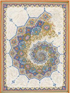 Fibonacci spiral by Iraninian illustrator