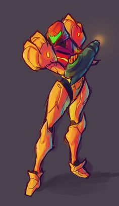 tchukart: @Sketch_Dailies seem like a good way to start the day. Have some Samus Aran. Loving her on Smash 4.