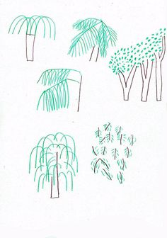 Drawing leaves at the park