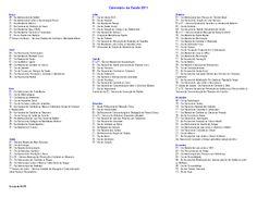 CAP 3.1 - Saúde Presente na AP 3.1: CALENDÁRIO DA SAÚDE 2011 Revisado