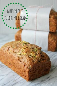 Try this Gluten Free Zucchini Bread recipe from A Girl Defloured on G-Free Foodie. It& perfect gluten free quick bread! Gluten Free Sweets, Gluten Free Cooking, Dairy Free Recipes, Gluten Free Zucchini Bread, Zucchini Bread Recipes, Lactose Free Bread, Healthy Zucchini Bread, Recipe Zucchini, Gluten Free Living