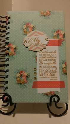 Check out this item in my Etsy shop https://www.etsy.com/listing/217642273/prayer-journal-with-psalm-1914-hand