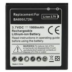 BA800+1900mAh+Replacement+Battery+for+Sony+Xperia+S+/+LT26i+/+Xperia+Arc+HD