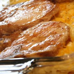 You'll love this Pork Chop and Hashbrown Casserole Recipe if you're looking for an easy weeknight meal. Only a few ingredients make the easy recipe a hit.