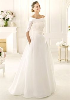Simple Weddings Boat Neck And Boat Neck Wedding Dress On Pinterest
