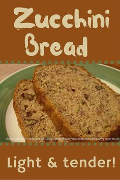 Light and tender zucchini bread recipe - the secret? Whole wheat pastry flour. Toss an abundance of zucchini into this bread and avoid food wastes!