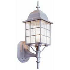 Design House Earl Grey Wall Mount Outdoor Sanded Aluminum Uplight-506089 at The Home Depot