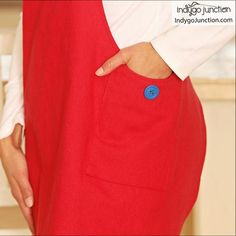 Crossback Reversible Apron sewing pattern by Indygo Junction – IndygoJunction Urban Fashion, Diy Fashion, Fashion Ideas, Fashion Dresses, How To Make Aprons, Child Apron Pattern, Sewing Aprons, Womens Fashion Stores, Kids Apron