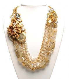 Vintage 50's Miriam Haskell beaded necklace