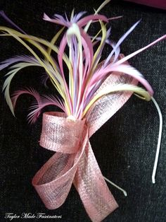 Pink Parfait fascinator.